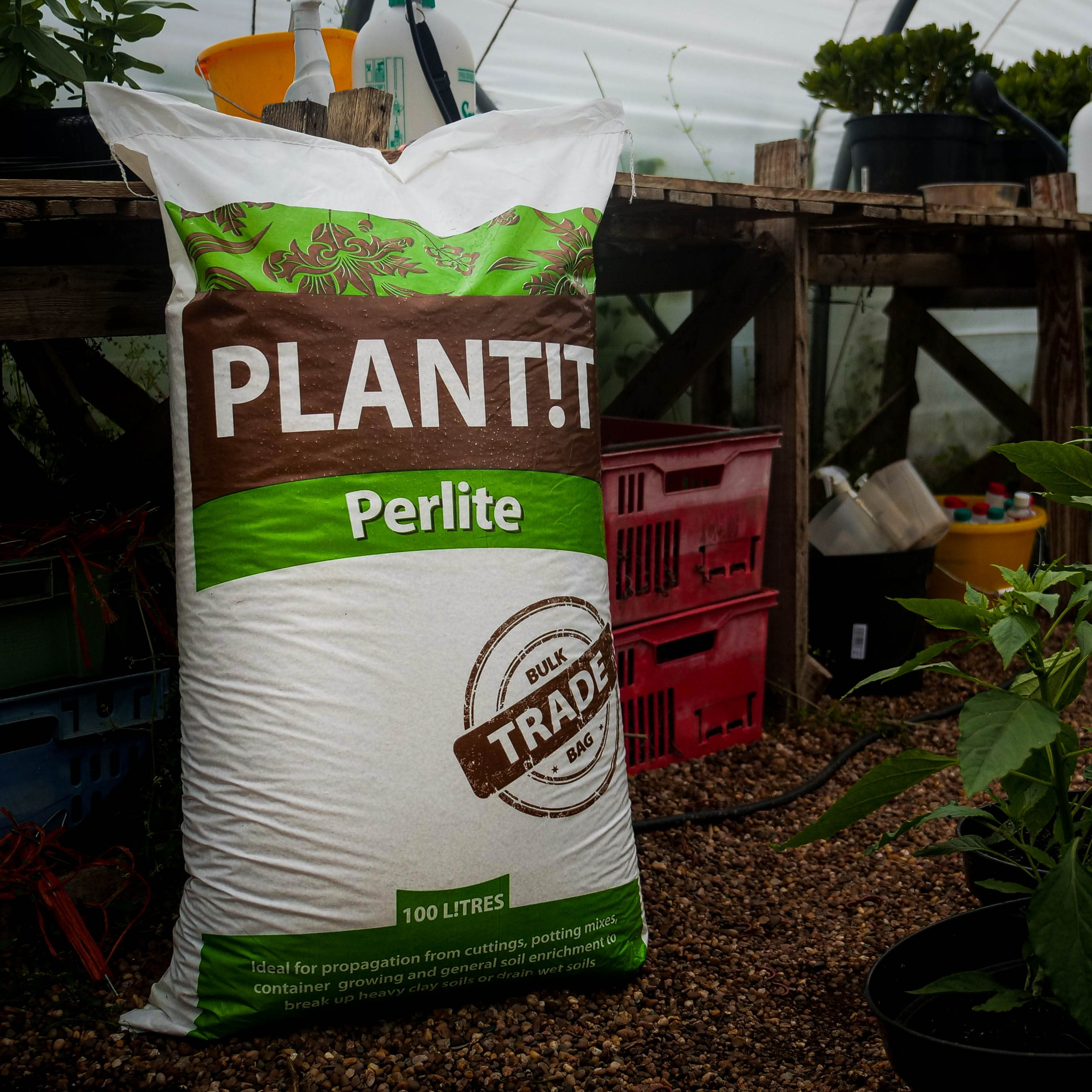 PLANT!T Perlite 100L Hydroponics Natural PH Neutral Growing Medium